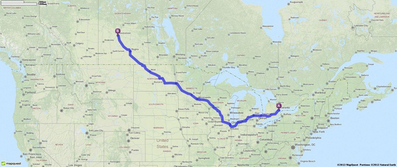 driving directions from toronto ontario to saskatoon saskatchewan mapquest