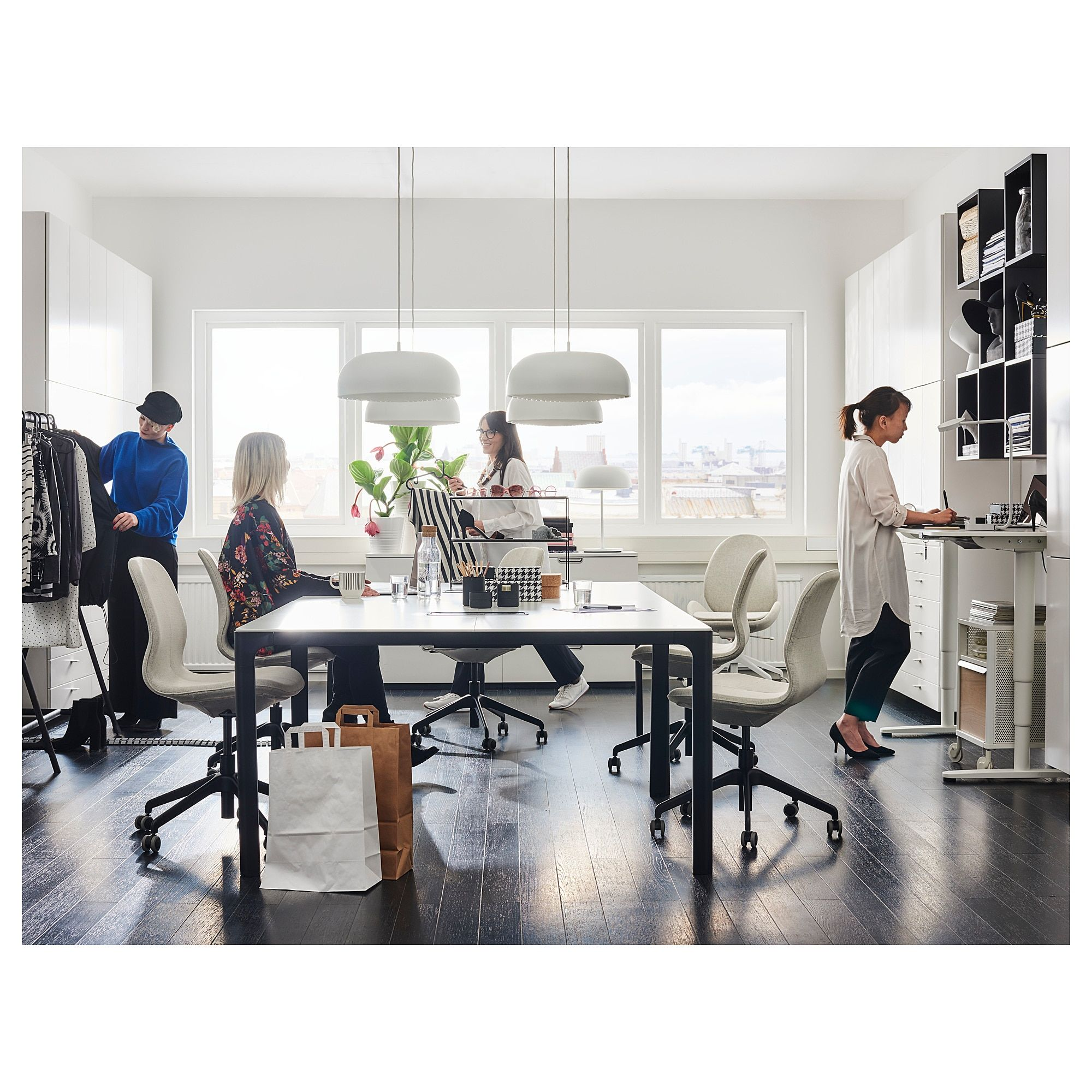 Ikea Bekant Conference Table White Black In 2019