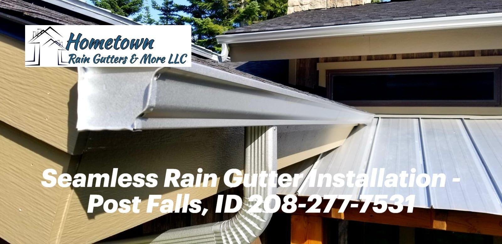 Custom Seamless Rain Gutters In Post Falls Id In 2020 Gutters Rain Gutters Rain Gutter Installation