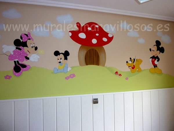 Pin By Murales Infantiles On Pintura Paredes Mural Home Decor Decals Baby Disney
