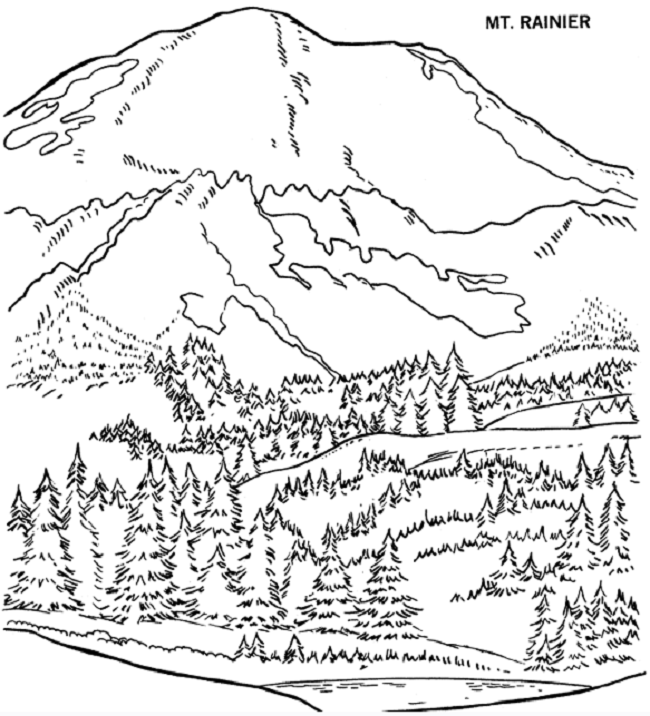 African Landscape Coloring Page