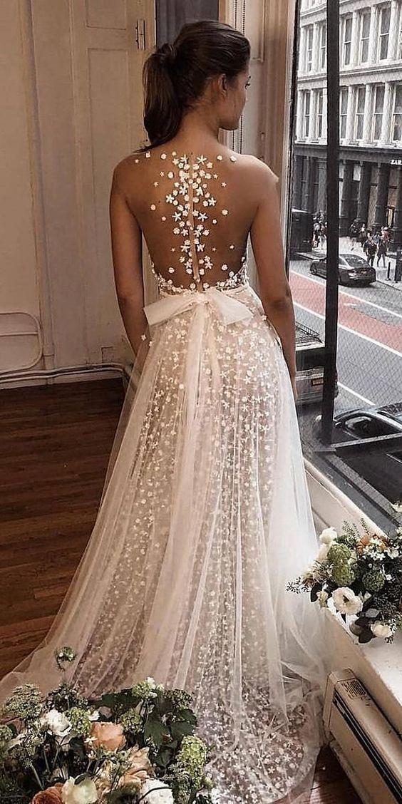 27 Atemberaubender Trend: Brautkleider mit Tattoo-Effekt  #weddingdress – wedding dress