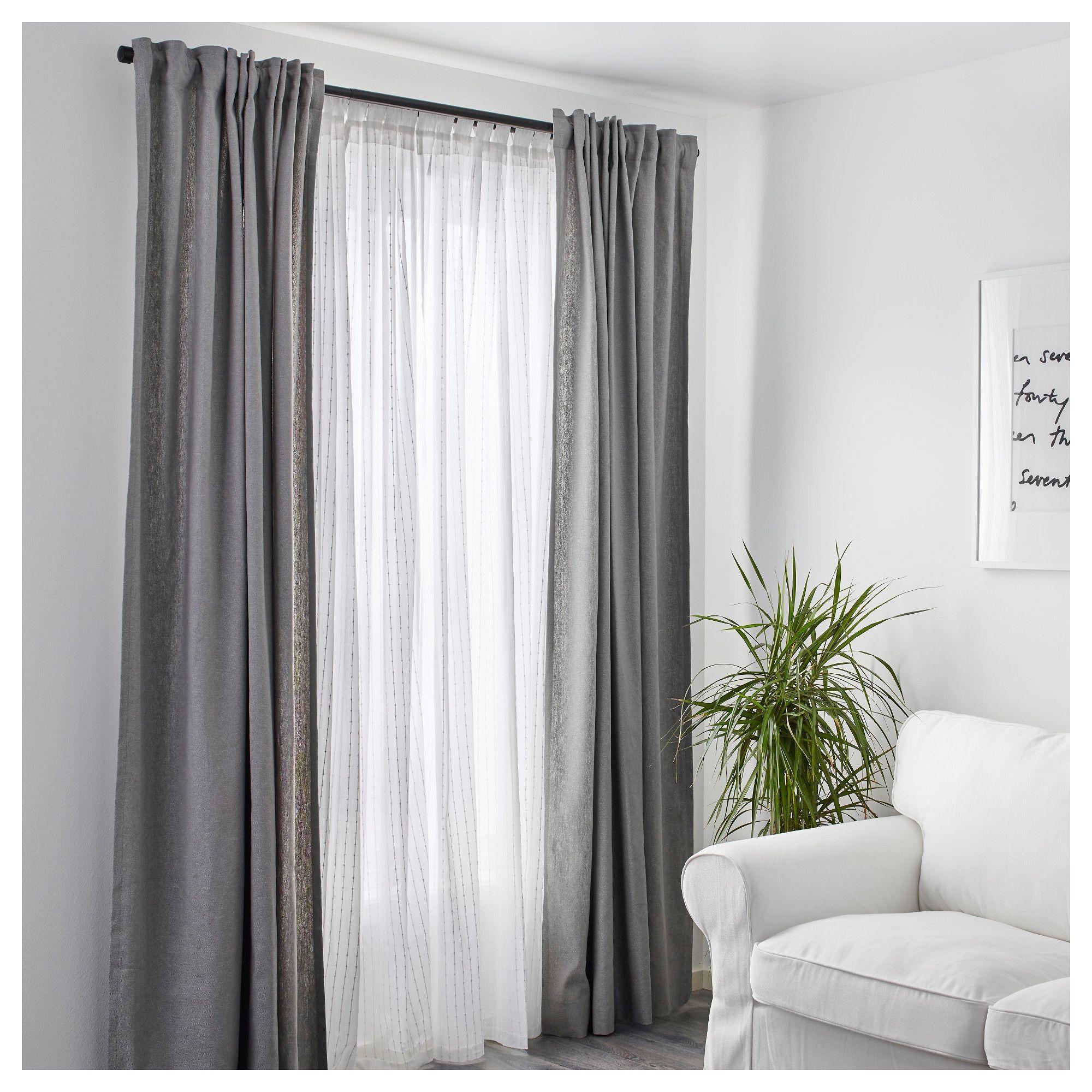 Matilda Sheer Curtains 1 Pair Ikea Nosewcurtains Oturma
