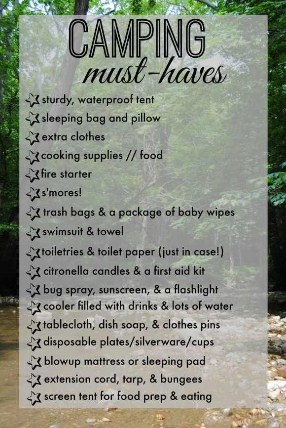 What You Need To Know About Home Saunas: Camping Checklist Camping Must Haves What A Great Post On