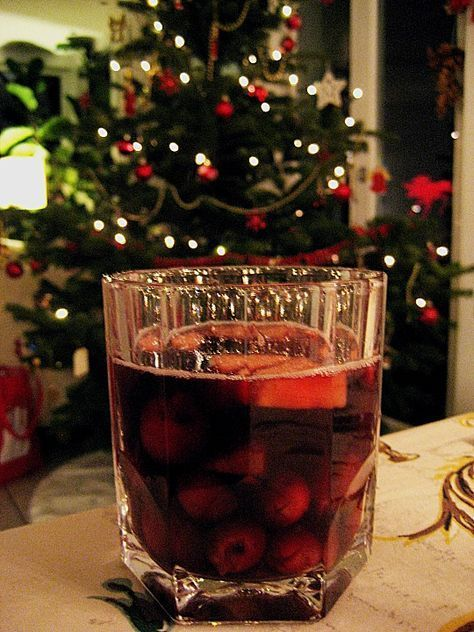 Weihnachtsbowle #alcoholicpartydrinks