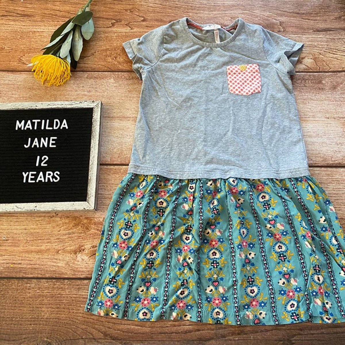 Matilda Jane 435 Curtsey dress size 12 years from Once Upon a Time line fall 2016 in very good used condition (L0928)