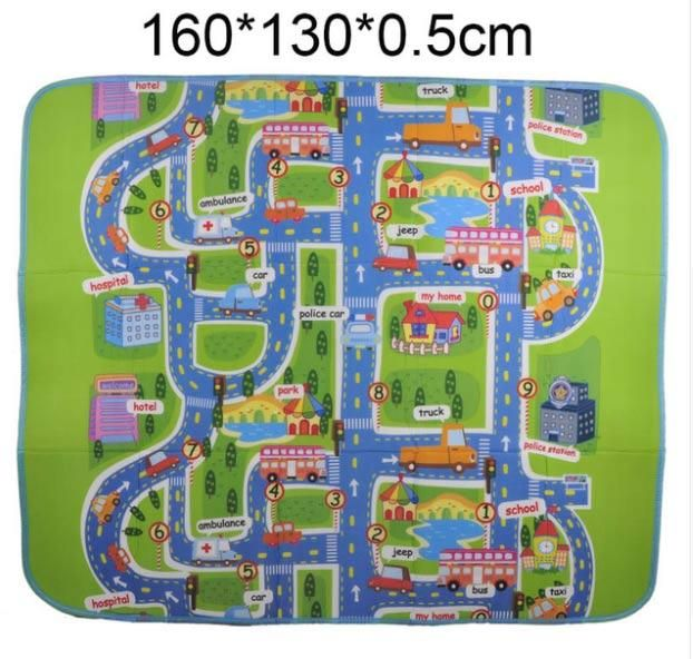 160 130cm Baby Play Mats City Road Carpets Floor Mats Children Crawling Rug Carpet Eva Foam Developing Puzzle Pla Baby Play Mat Carpets For Kids Rugs On Carpet