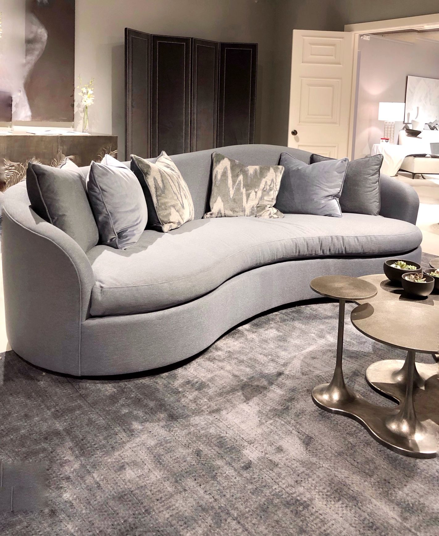 Color And Design Trends From Spring 2019 High Point Market Part One Color And Design Trends From Spring 2019 High Point Market Grey Sofa Design Midcentury Modern Dining Chairs Interior Design Programs