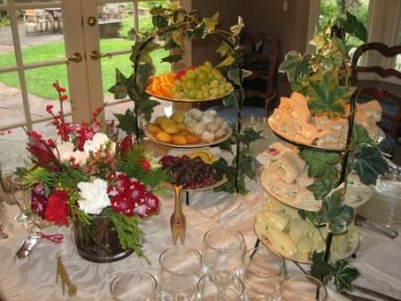 Elegant Buffet Tables With Food | Tea Party Tableware