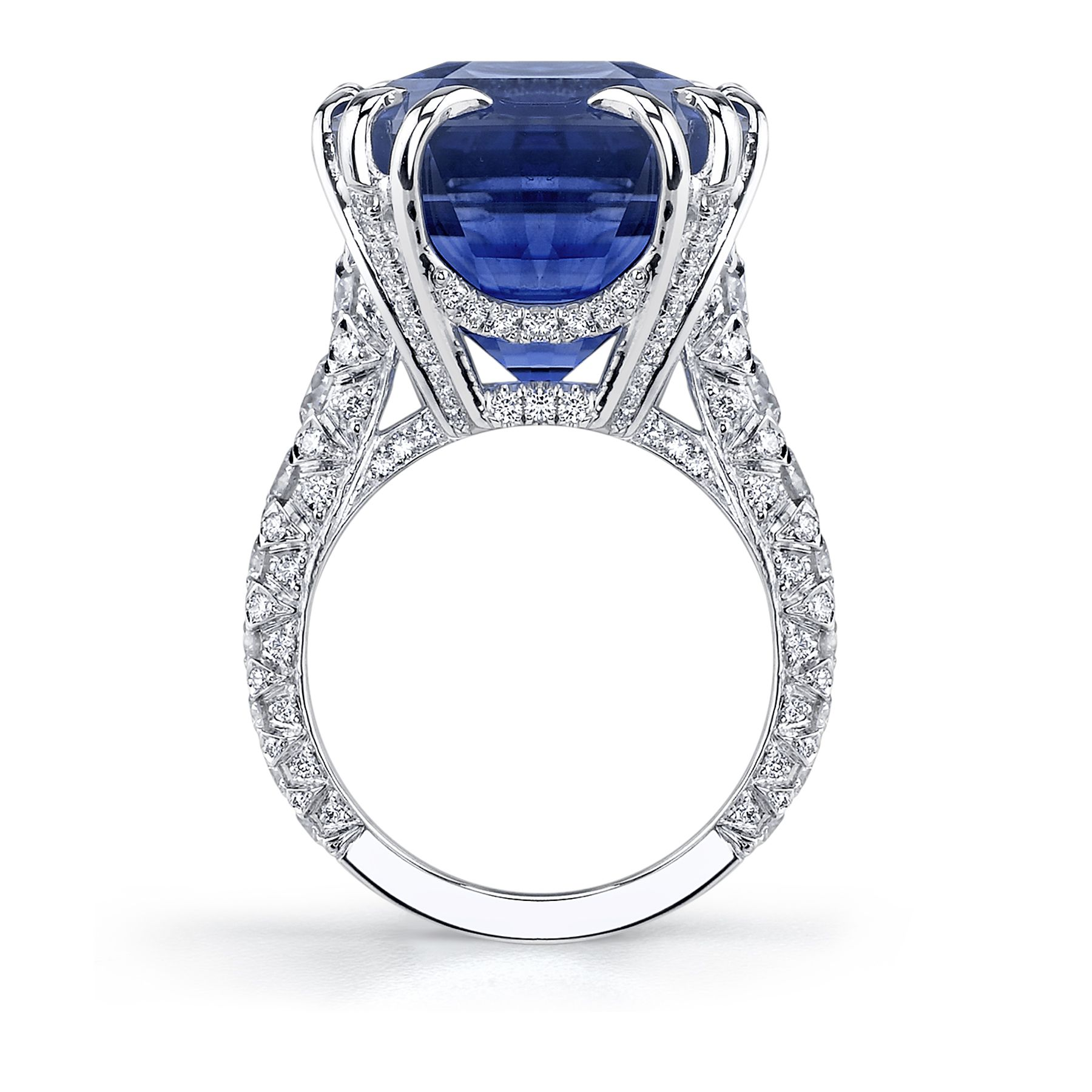 dsc limit paw octagon rock ring topaz new swiss diamond with the nodeform blue cut in sky is