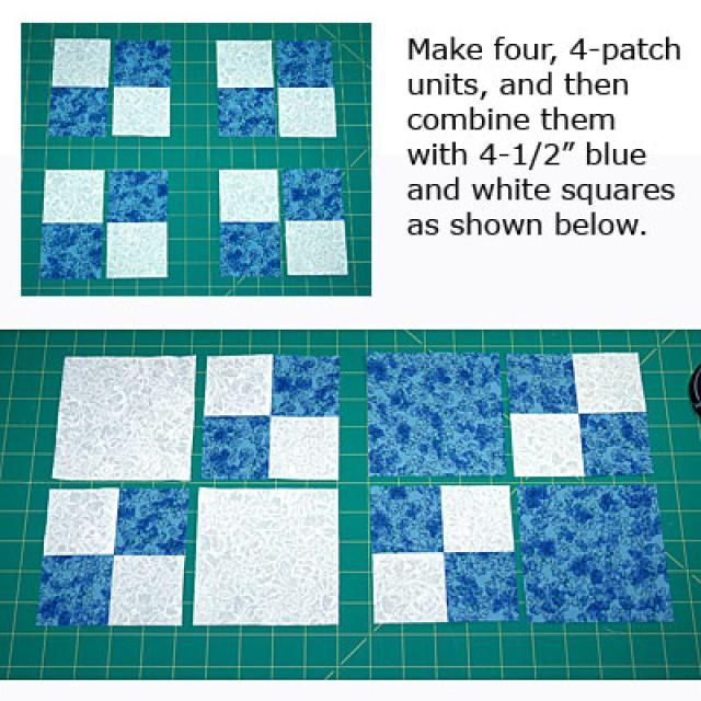 Learn How To Sew An Easy Double Four Patch Quilt Block