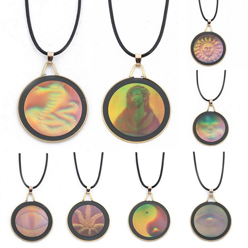Holo Holographic Robot Android Silhouette Pendant