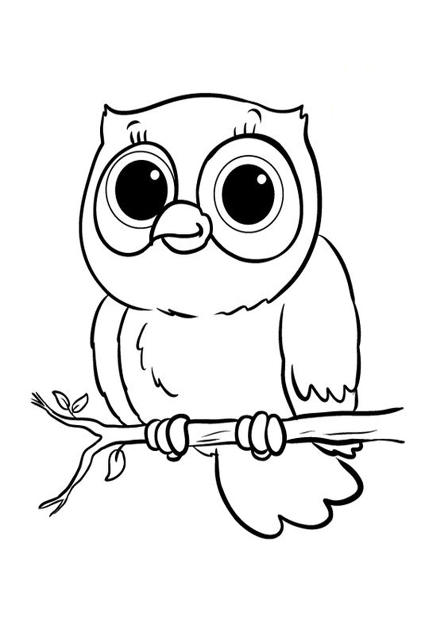 Free Easy To Print Owl Coloring Pages Owl Coloring Pages Animal Coloring Pages Easy Coloring Pages