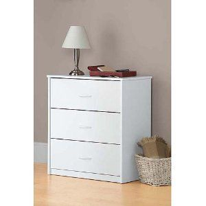Best Amazon Com White 3 Drawer Dresser Chest Wood Bedroom 400 x 300