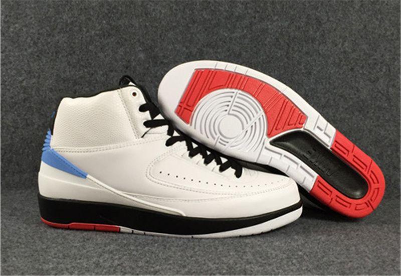 Nike Air Jordan 2 Retro Alumni Unc Men S White University Blue University Red Black Basketball Shoes Black Basketball Shoes Air Jordans Shoes