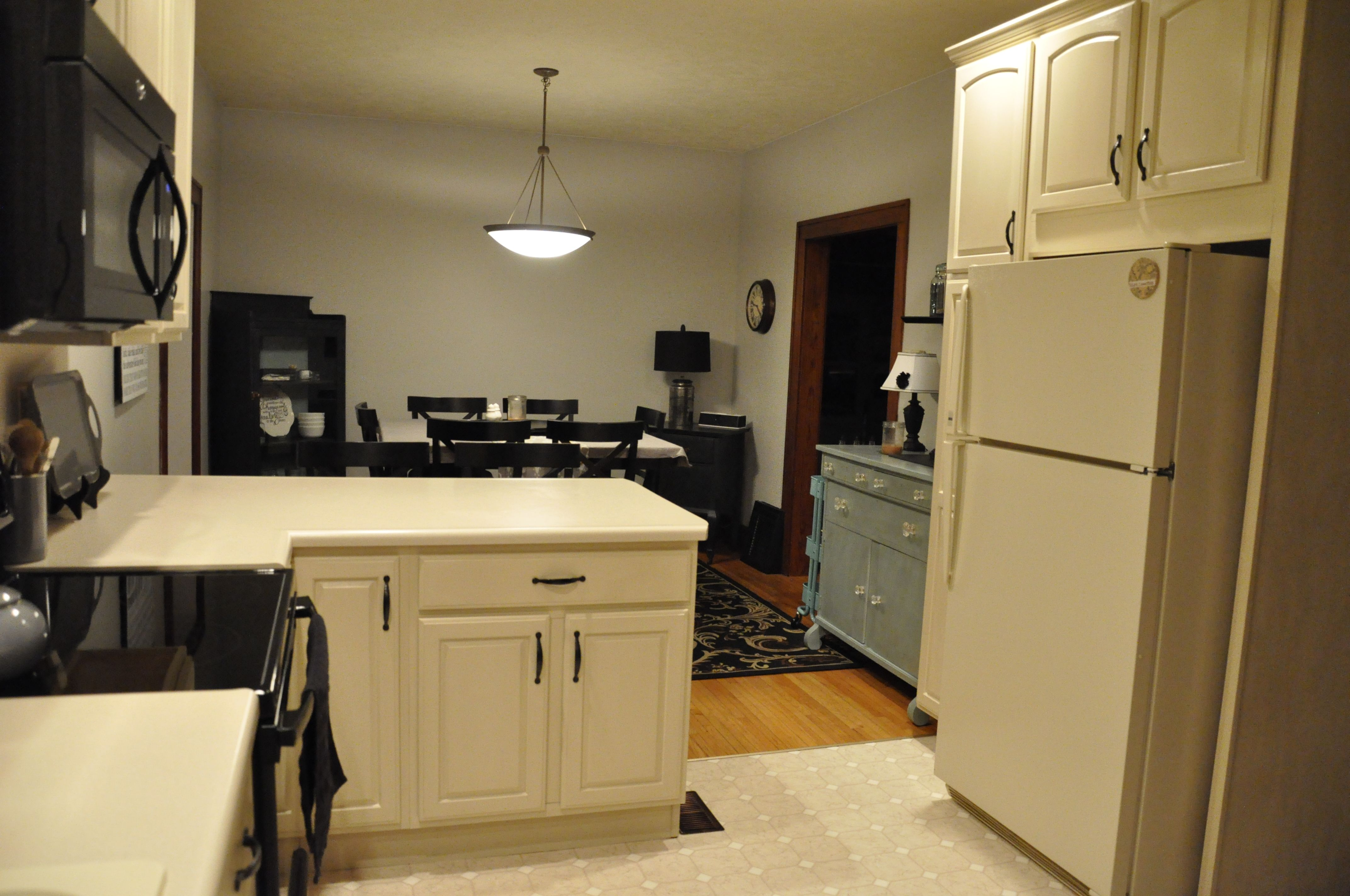 Annie Sloan Old Ochre After Pic Of Kitchen Cabinet