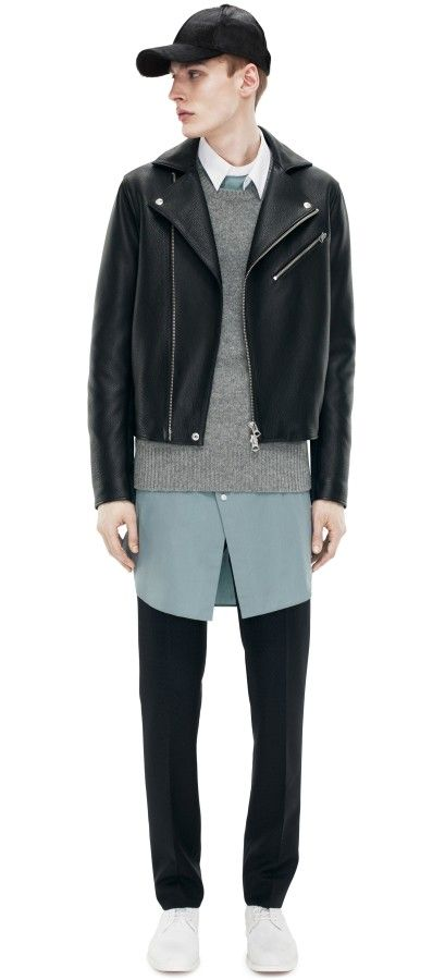 Acne Studios Gibson Leather Black Jacket Leather Jacket Jackets How To Wear Flannels