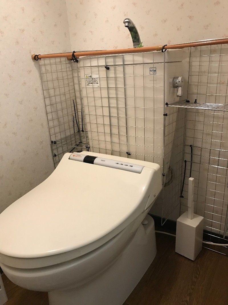 ダイソーの材料で タンクレス風トイレに挑戦 トイレ おしゃれ