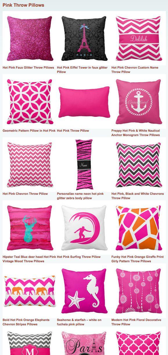 Hot Pink Throw Pillows Hot Pink Throw Pillows Pink Throw