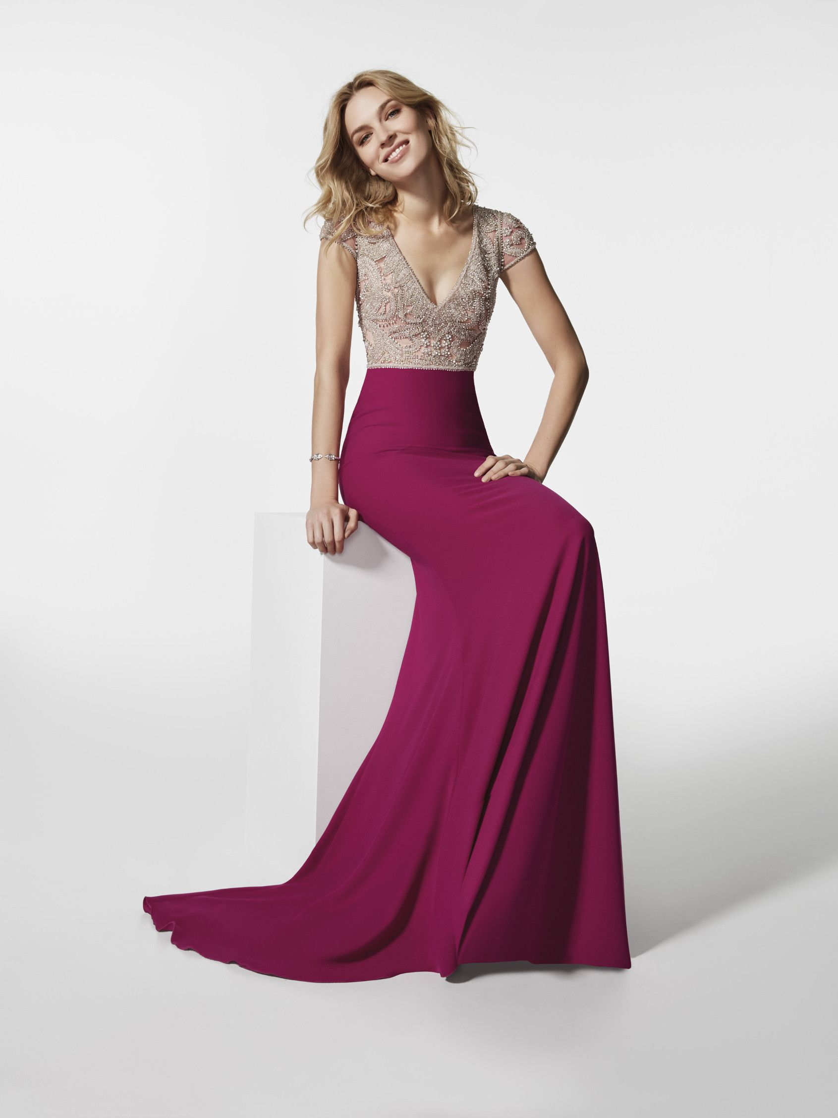 Photo robe de soirée rose (62074) | robe | Pinterest | Abendkleid ...