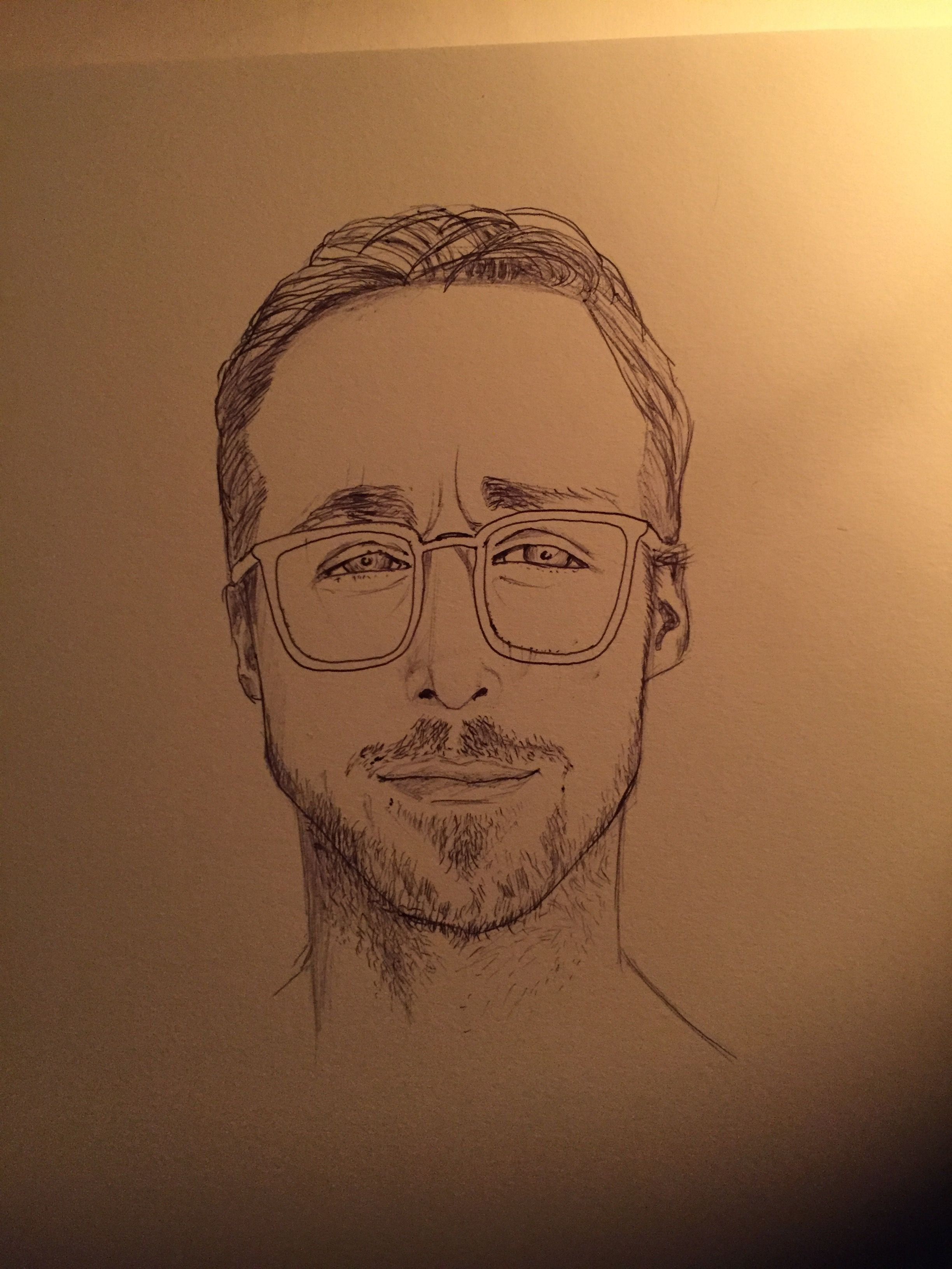 Ryan, Ryan.. hey, girl. #ryangosling #drawing #blackpen