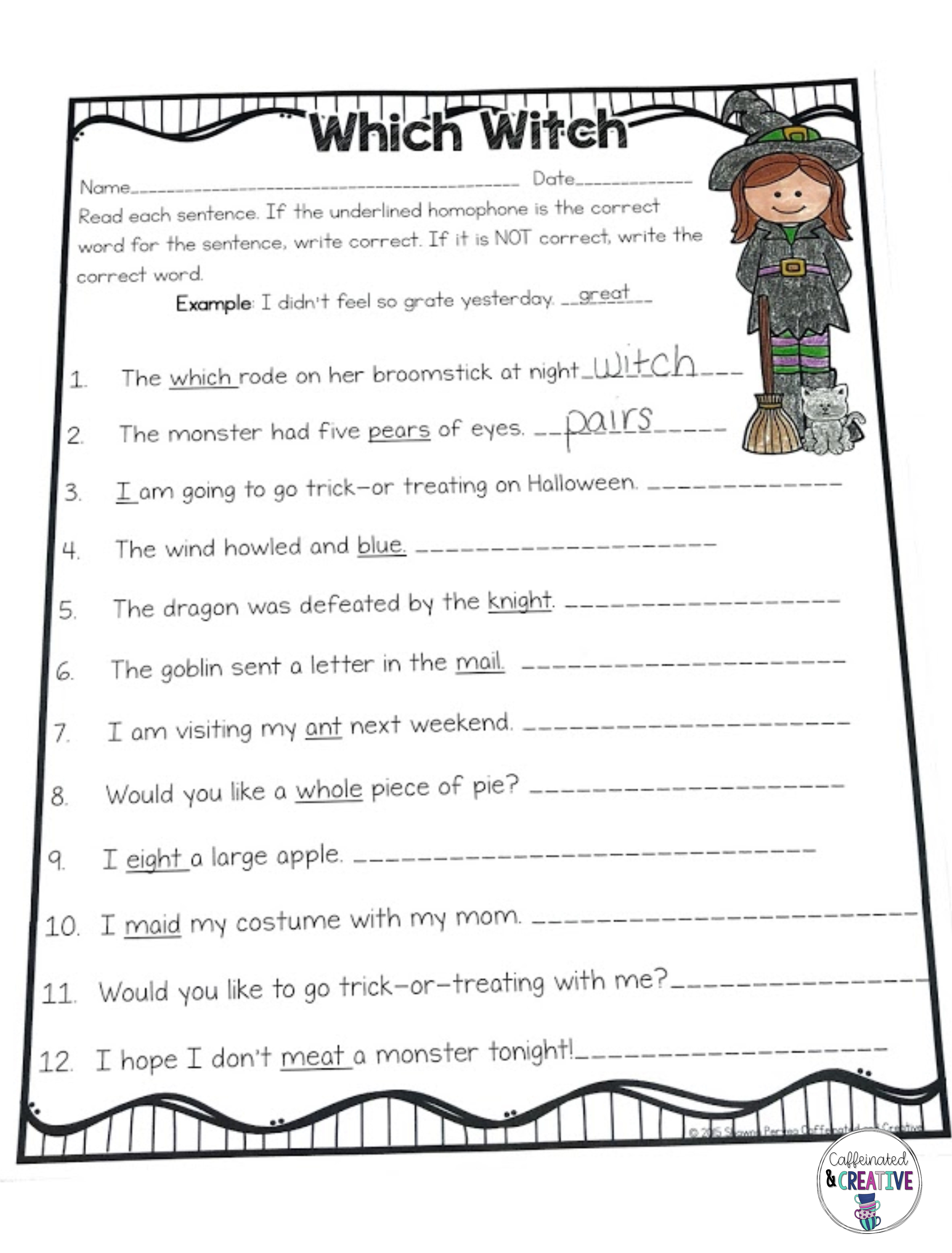 Fall Season Books Ideas And Resources Tons Of Ideas For The Season Halloween Resources Which Witch Halloween Worksheets [ 7500 x 5700 Pixel ]