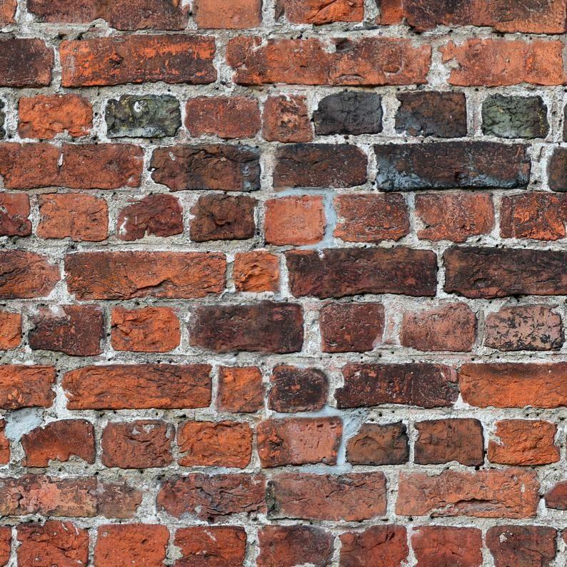 Red Brick Removable Wallpaper Aged Vintage Brick Wallpaper Etsy Removable Brick Wallpaper Faux Brick Wallpaper Brick Wallpaper