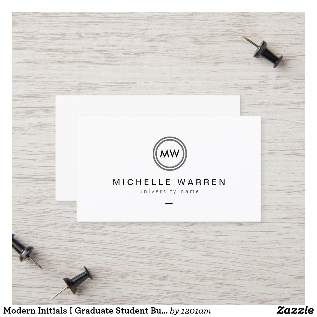 Modern Initials I Graduate Student Business Card Zazzle Com Student Business Cards Printing Business Cards Examples Of Business Cards