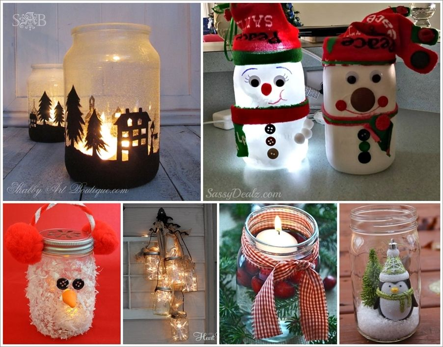 12 Magnificent Mason Jar Christmas Decorations You Can Make Yourself Idees And Solut Mason Jar Christmas Crafts Fun Christmas Crafts Christmas Crafts To Make
