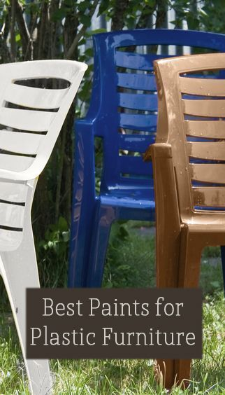 Best Paint Products To Use For Plastic Furniture