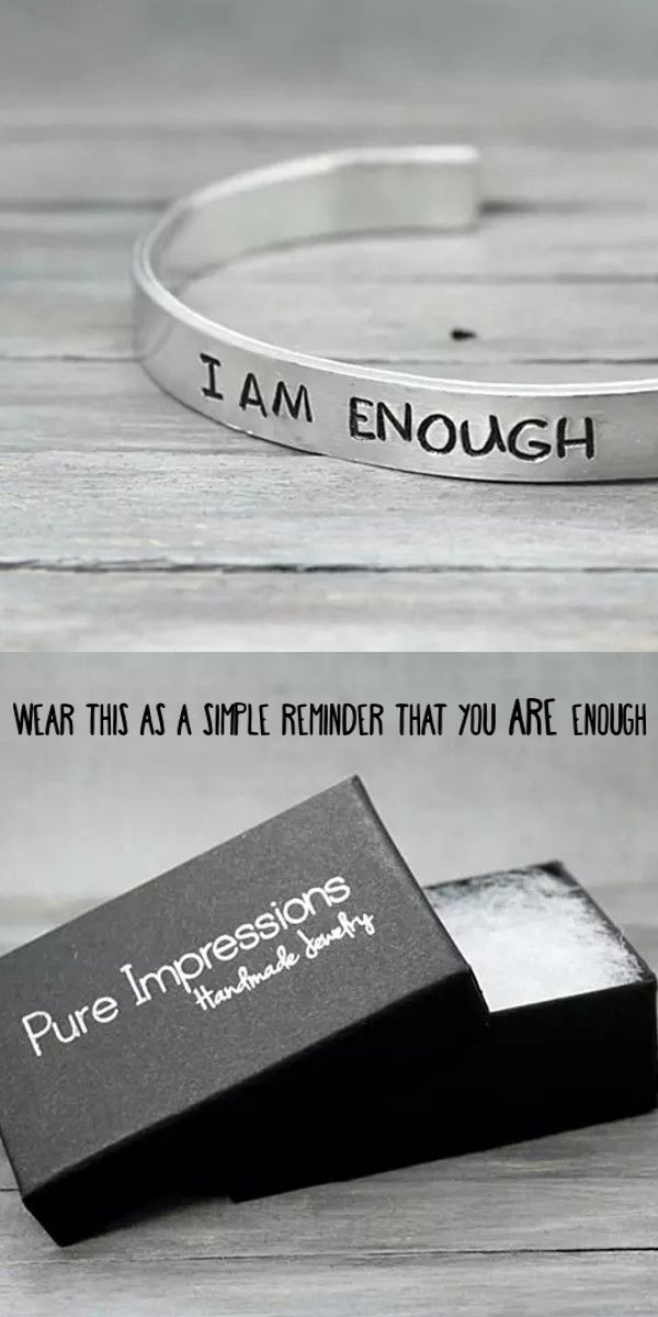 A Simple Yet Perfect Reminder That You Are Enough Pure Impressions Creates Its Hand Stampe Pandora Jewelry Charms Pandora Bracelet Charms Hand Stamped Jewelry