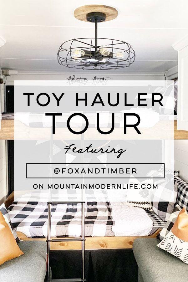 Modern Farmhouse Style Toy Hauler #modernfarmhousestyle