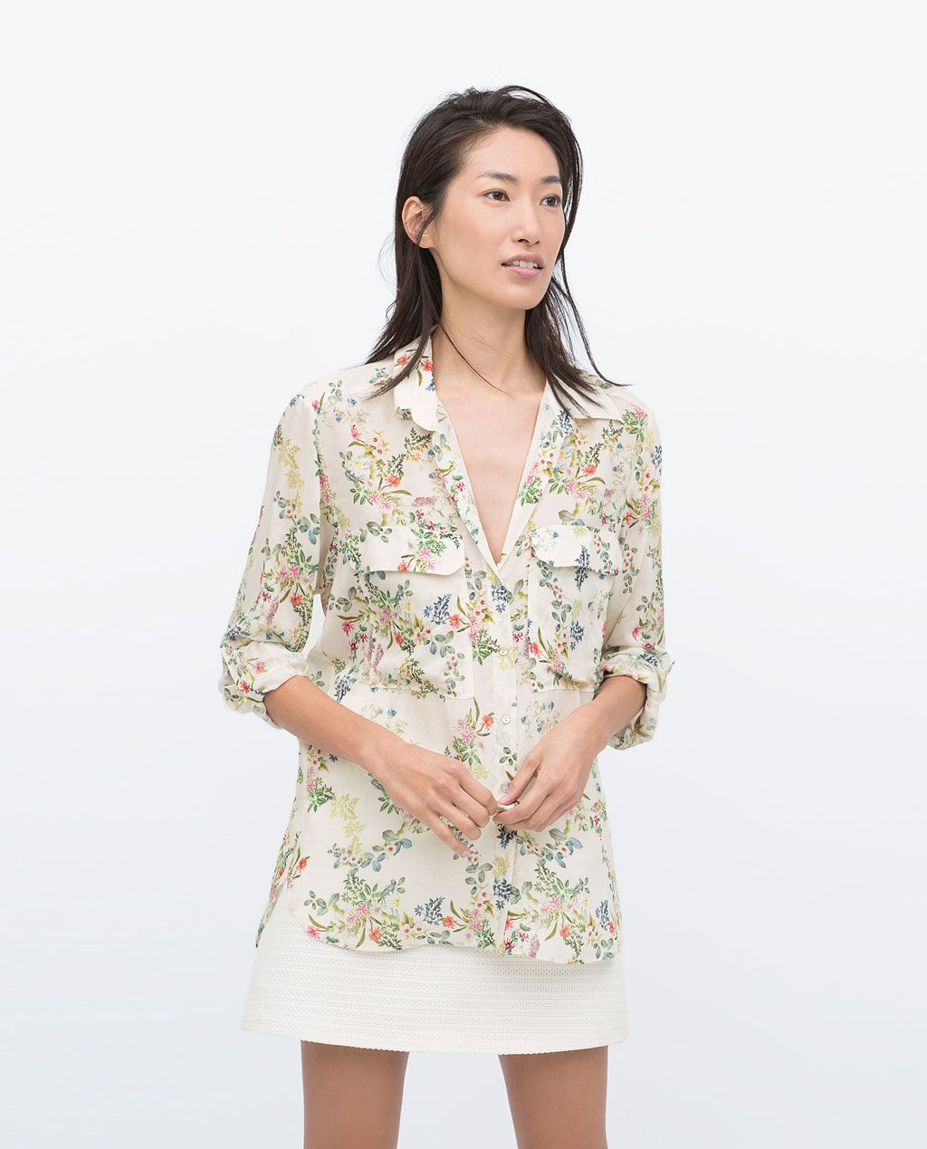 3c78a0d0 Image 1 of PRINTED BLOUSE WITH POCKETS from Zara | clothes and shoes ...