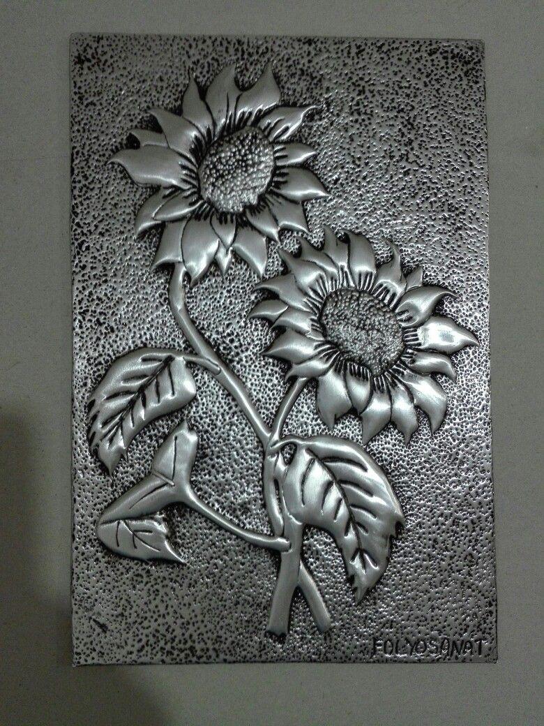 Sun Flower Gune Bakan Folyo Kabartma Teknigi Ile Aluminyum