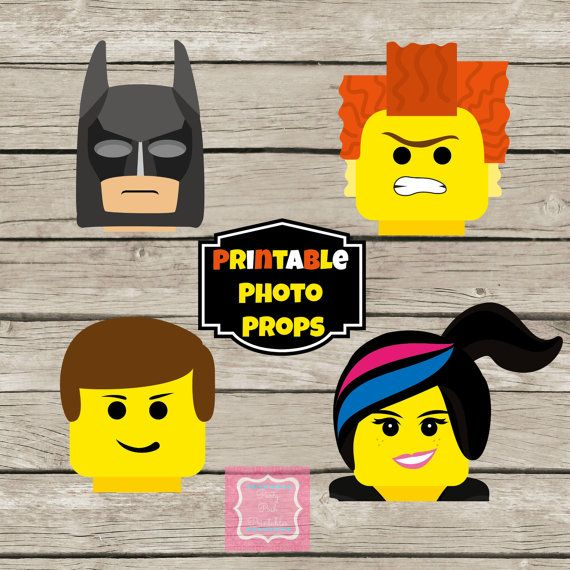 Photo Props Instant Download Lego Movie by PartyPoshPrintables