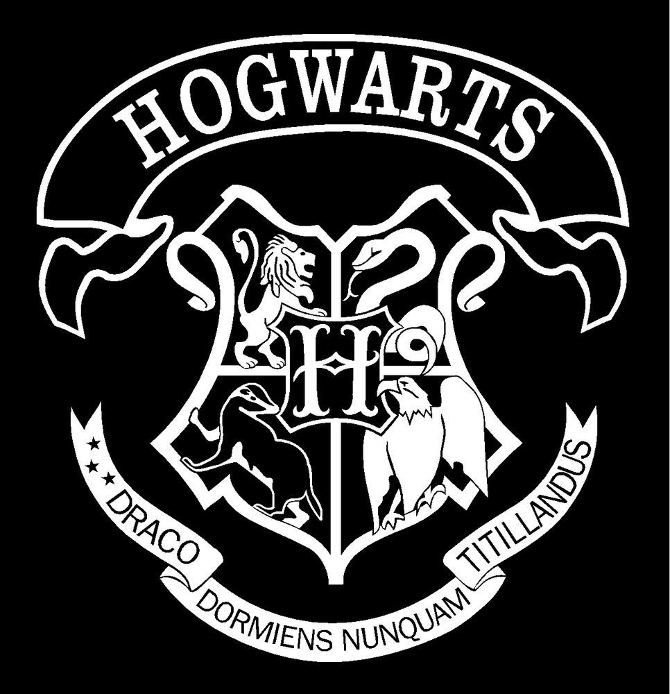 Details about Harry Potter Hogwarts School Crest Vinyl Car