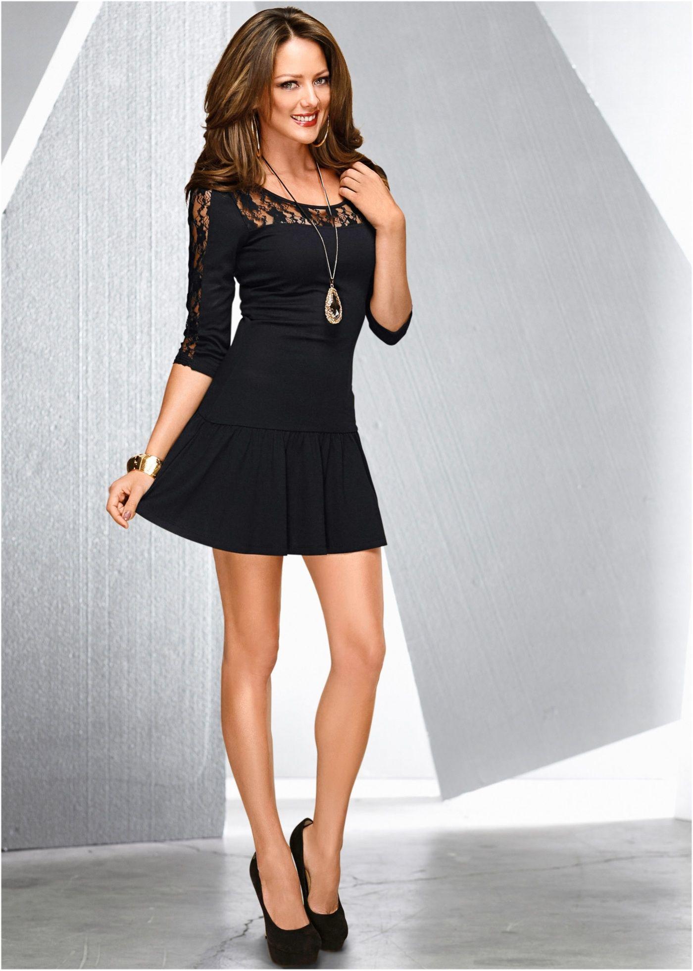 3ae29ddae Vestido com renda preto encomendar agora na loja on-line bonprix.com ...