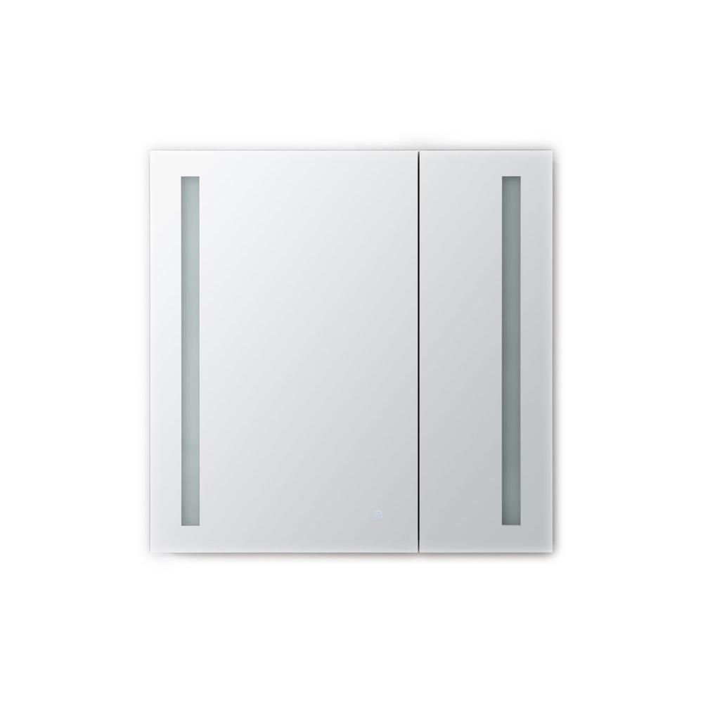 Aquadom Royale Basic 30 In W X 30 In H Recessed Or Surface Mount Medicine Cabinet With Bi View Door Led Lighting With Dimmer Rb 3030 Surface Mount Medicine Cabinet Adjustable Shelving Led Lights