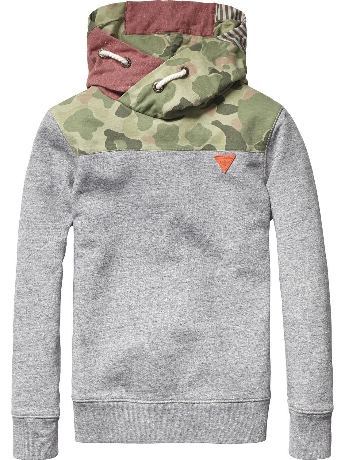 Patchwork Hooded Sweater | Sweat | Boy\'s Clothing at Scotch & Soda ...