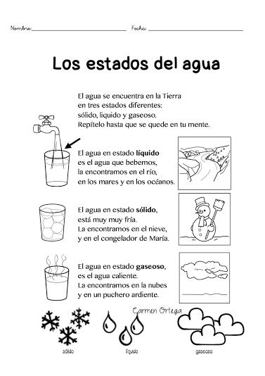 los estados del agua para escolares … | Pinteres…