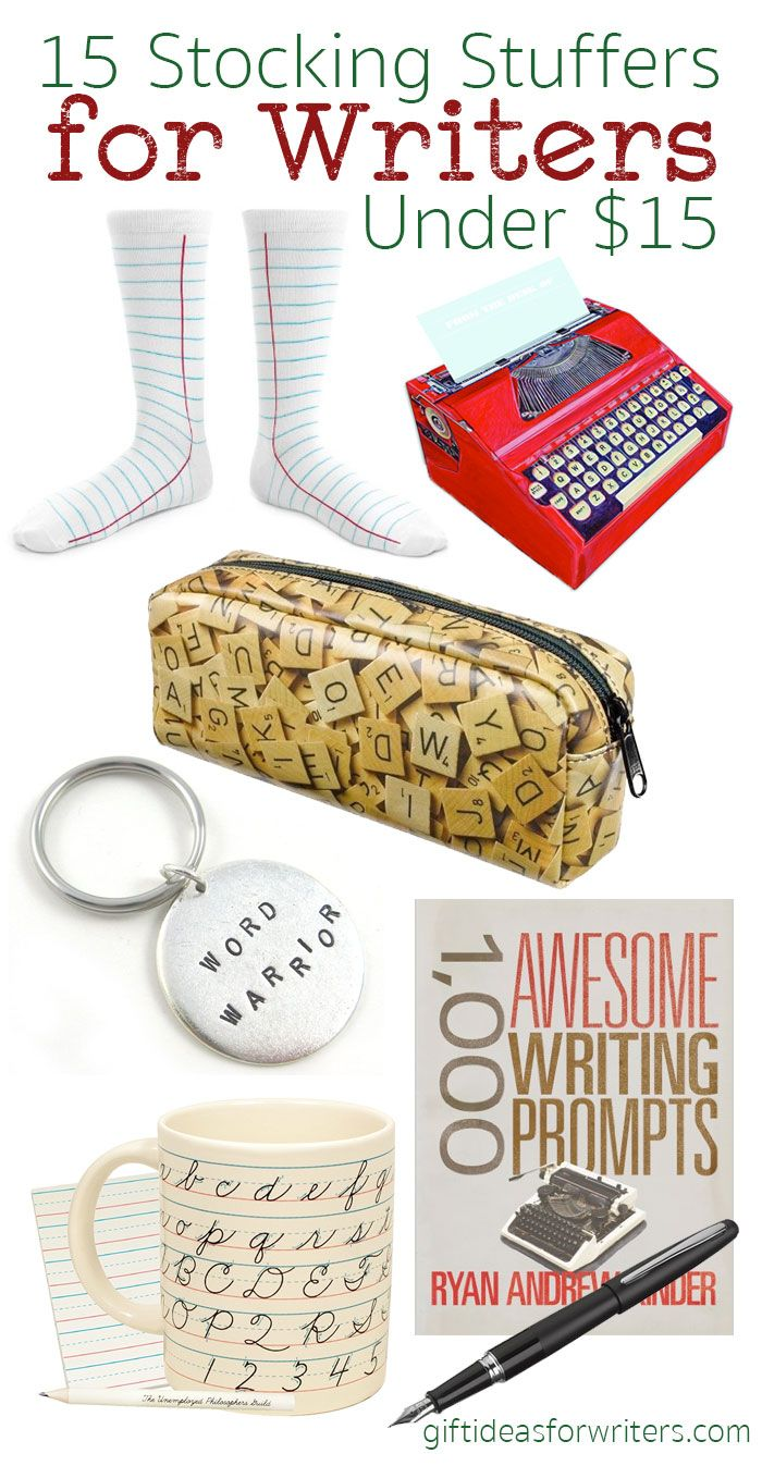 15 stocking stuffers for writers under $15 | stuff for writers and