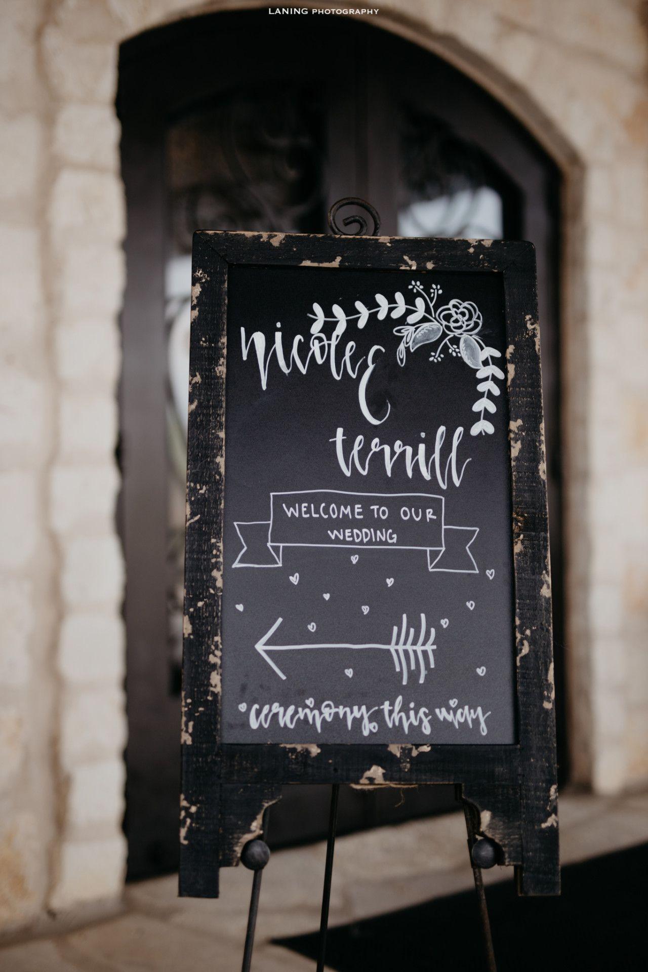 Modern Rustic Chalkboard Wedding Sign Welcome Wedding Sign Ideas
