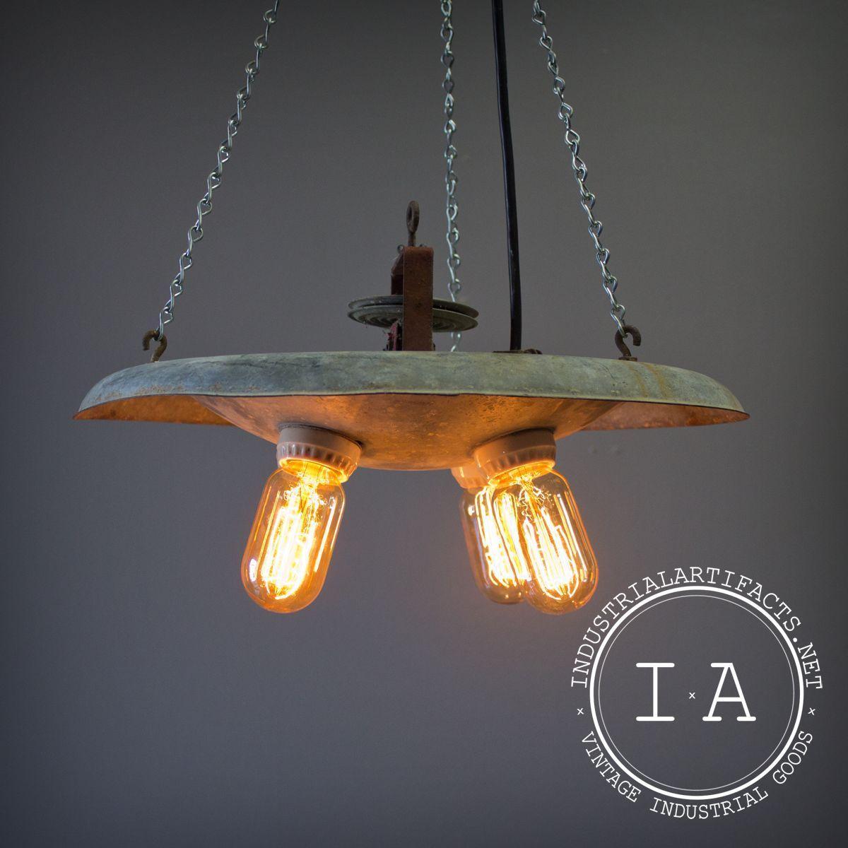 Vintage Industrial 4 Bulb Brooder Lamp Chandelier Bulb Edison Bulb Lamp Repurposed Lamp