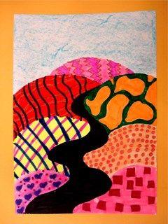 Artsonia Art Gallery - Hockney Landscapes