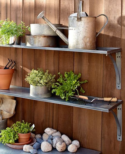Galvanized Metal Shelves Metal Shelves Modern Outdoor Furniture Inside Decor
