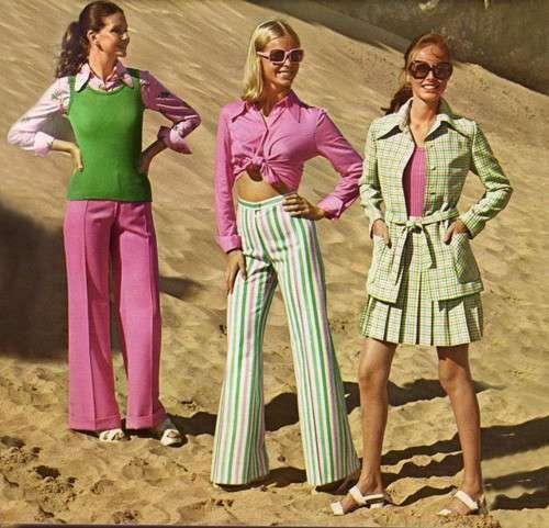 Moda anni 70 - Moda Anni 70 pantaloni a zampa donna  5684ebf2e27e
