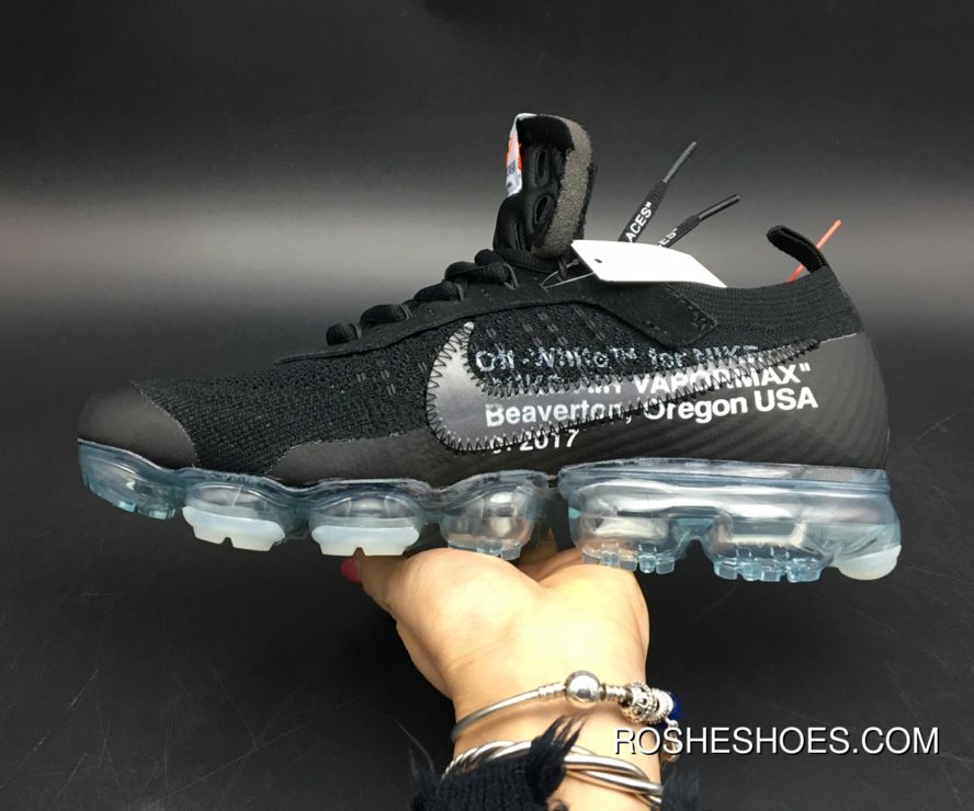 reputable site f5a50 6cbc8 New Style Off-White X Nike Air Vapormax Black Total Crimson-Clear Aa3831