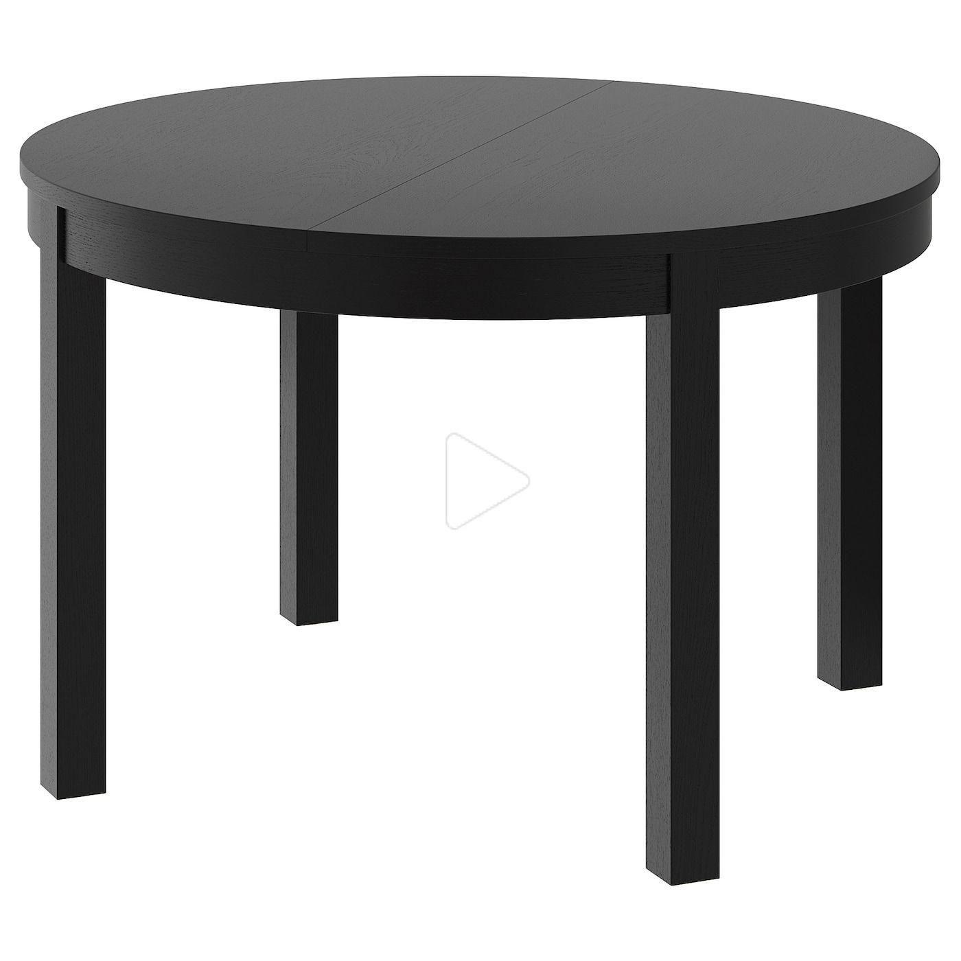 Ikea Bjursta Table A Rallonge Brun Noir En 2020 Bjursta Table Table A Rallonge Ikea