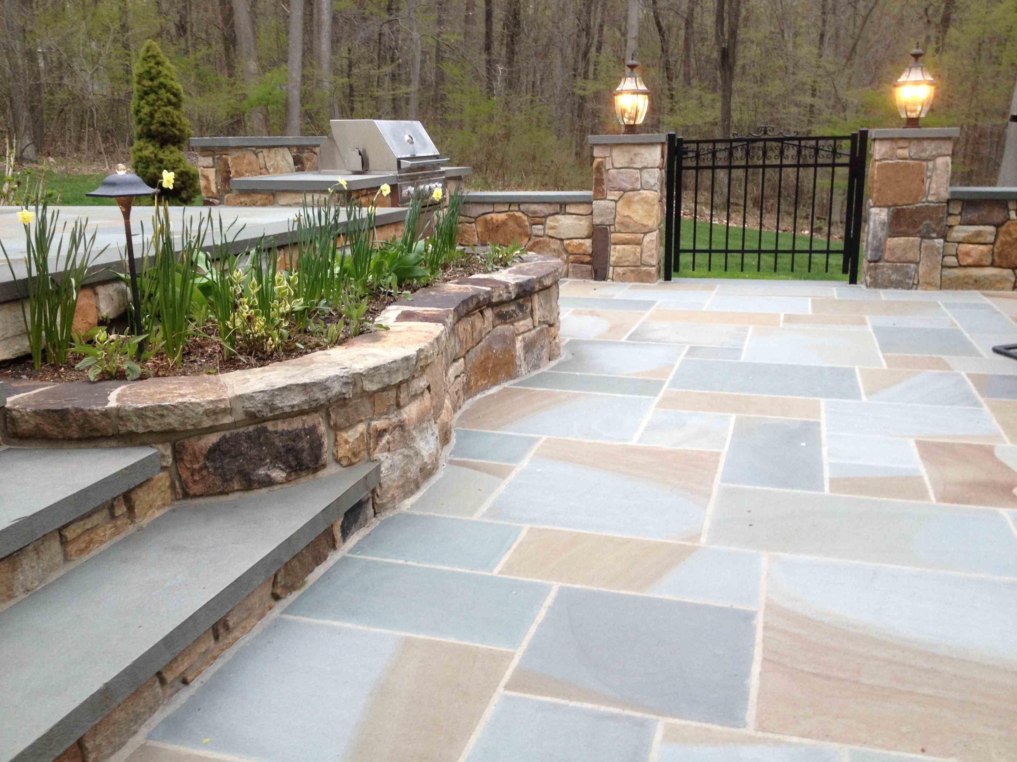 Thermal Bluestone pavers Natural Stone Pinterest
