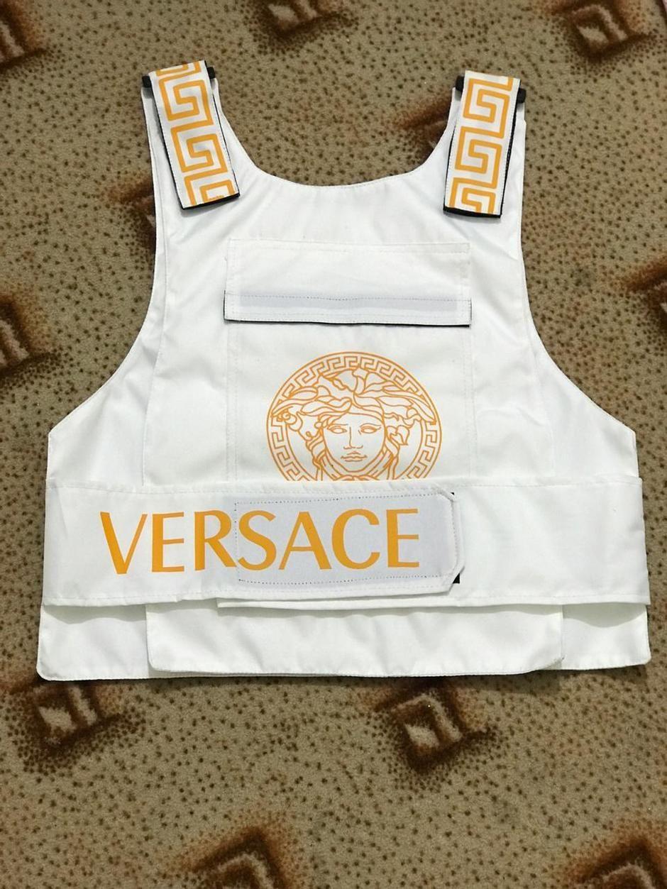Versace White Tactical Bulletproof Street wear Fashion